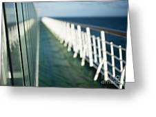 The Sun Deck Greeting Card by Anne Gilbert