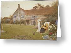 The Sundial Greeting Card by Thomas James Lloyd