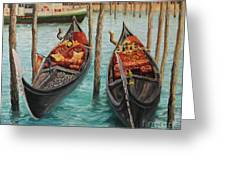 The Symbols Of Venice Greeting Card by Kiril Stanchev