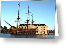 The Tall Clipper Ship Stad Amsterdam - Sailing Ship  - 05 Greeting Card by Gregory Dyer
