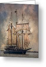The Tall Ship Peacemaker Greeting Card by Dale Kincaid