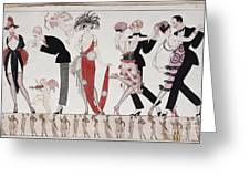 The Tango Greeting Card by Georges Barbier
