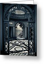 The Tea House Vizcaya Museum And Gardens Biscayne Bay Miami Florida Greeting Card by Amy Cicconi