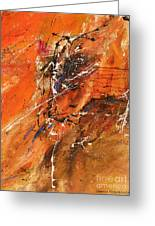 The Temptation -abstract Art Greeting Card by Ismeta Gruenwald