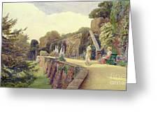 The Terrace At Berkeley Castle Greeting Card by George Samuel Elgood