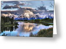 The Tetons From Oxbow Bend Greeting Card by Dan Sproul
