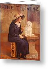 The Theatre 1910s Usa Dogs Magazines Greeting Card by The Advertising Archives