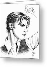 The Thin White Duke Greeting Card by Cristophers Dream Artistry