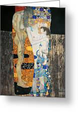 The Three Ages Of Woman Greeting Card by Gustav Klimt