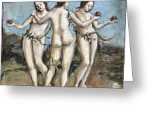 The Three Graces Greeting Card by Carrie Joy Byrnes
