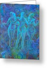 The Three Muses Greeting Card by The Art With A Heart By Charlotte Phillips