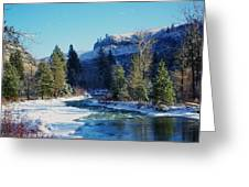 The Tieton River Greeting Card by Jeff Swan