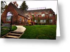The Tke House On The Wsu Campus Greeting Card by David Patterson