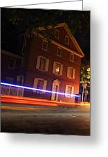 The Todd House Philadelphia Greeting Card by Christopher Woods