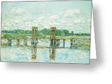 The Toll Bridge New Hampshire Greeting Card by Childe Hassam
