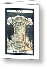 The Tower Greeting Card by Nora Blansett