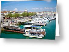 The Town And Port Of La Rochelle Greeting Card by Nila Newsom