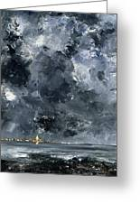 The Town Greeting Card by August Johan Strindberg