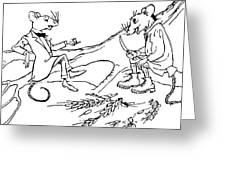 The Town Mouse And The Country Mouse Greeting Card by Arthur Rackham