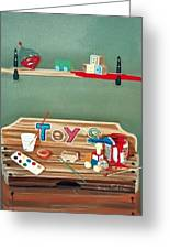 The Toy Chest Greeting Card by Susan Roberts