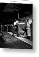 The Train Conductor Greeting Card by Bob Orsillo