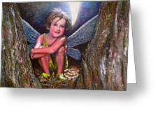 The Tree Fairy Greeting Card by Michael Durst