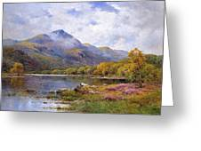 The Trossachs Ben  Greeting Card by Alfred de Breanski Jr