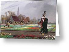 The Tulip Folly Greeting Card by Jean Leon Gerome