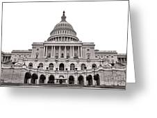 The United States Capitol  Greeting Card by Olivier Le Queinec