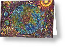 the UNIVERSE mandala Greeting Card by DiNo