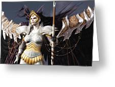 The Valkyrie Greeting Card by Melissa Krauss