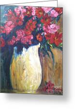 The Vase Greeting Card by Sherry Harradence