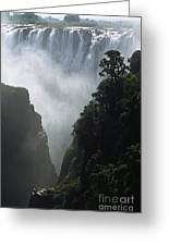 The Victoria Falls Greeting Card by Alex Cassels