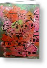 The Village In Foliage Greeting Card by Michael Litvack