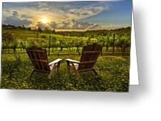 The Vineyard   Greeting Card by Debra and Dave Vanderlaan