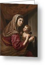 The Virgin And Child Greeting Card by Jan van Bijlert or Bylert