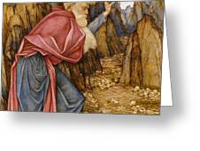 The Vision of Ezekiel The Valley of Dry Bones Greeting Card by John Roddam Spencer Stanhope