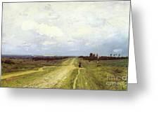 The Vladimirka Road Greeting Card by Isaak Ilyich Levitan