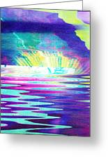 The Wake At The Cave Greeting Card by Anne-Elizabeth Whiteway