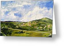 The Walk Down Horsetooth Mountain Greeting Card by Maureen Carrigan
