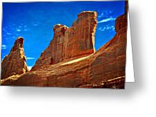 The Wall Greeting Card by Marty Koch
