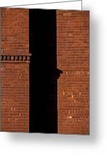 The Wall Shadow Greeting Card by Karol  Livote