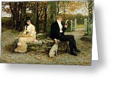 The Waning Honeymoon Greeting Card by GH Boughton