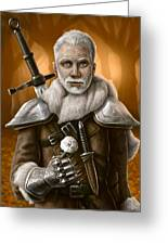 The Warden Greeting Card by Mark Zelmer