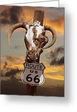 The Warmth Of Route 66 Greeting Card by Mike McGlothlen
