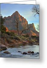 The Watchman In Winter-3 Greeting Card by Alan Vance Ley