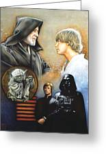 The Way Of The Force Greeting Card by Edward Draganski