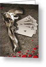 The Way Of The Gun 2 Greeting Card by Mike McGlothlen