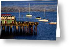 The Wharf Greeting Card by Tom Kelly