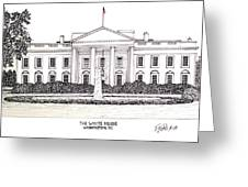 The White House Greeting Card by Frederic Kohli